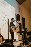 Cory Breth sharing music on The Beautiful Moments tour